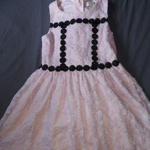 Girls Kate Spade pink lace boutique dress sz 8